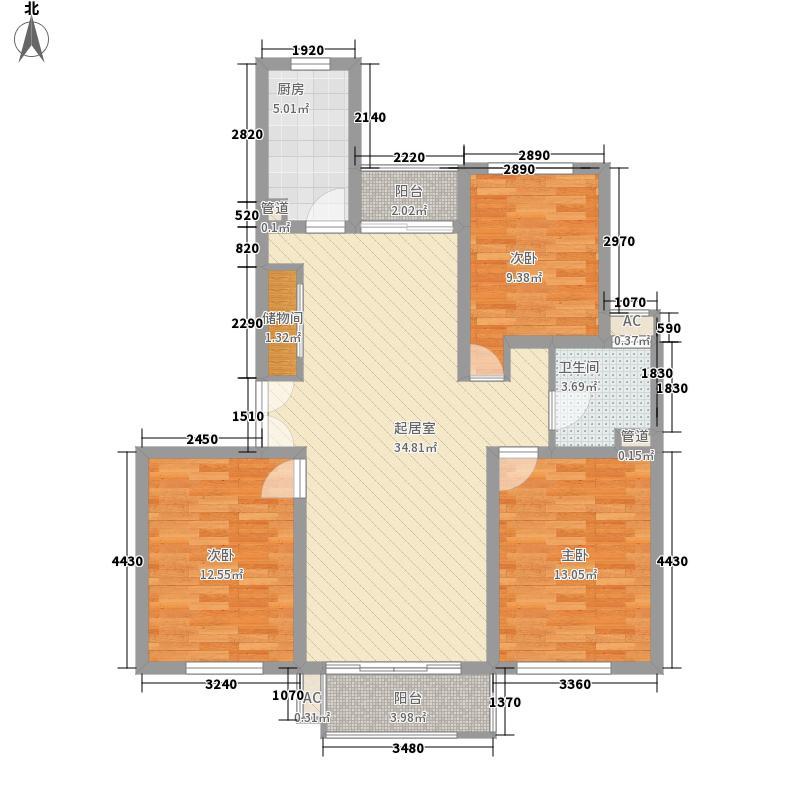 新时代景庭上海新时代景庭C单元01室户型1室