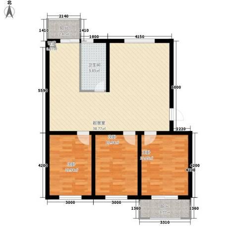 东港新城3室0厅1卫0厨95.14㎡户型图
