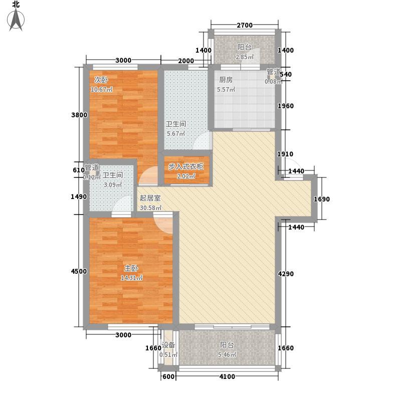鑫安厚德园101.50㎡鑫安厚德园户型图三期B户型图2室2厅2卫户型2室2厅2卫