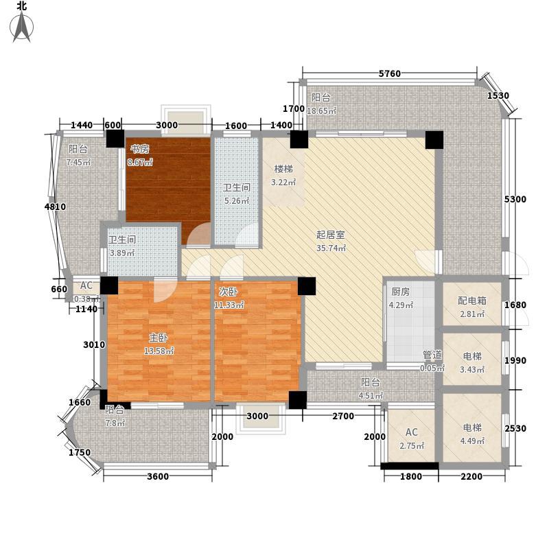 万宝城252.00㎡万宝城户型图A2复式户型下层6室3厅4卫1厨户型6室3厅4卫1厨