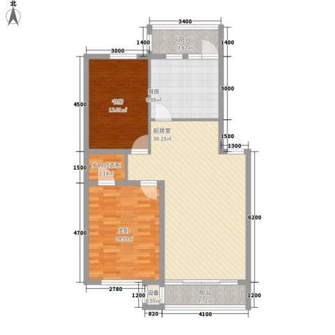 鑫安厚德园2室0厅0卫1厨95.00㎡户型图