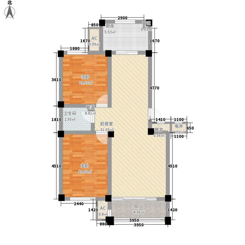 东城人家95.00㎡东城人家户型图B户型图2室2厅1卫1厨户型2室2厅1卫1厨
