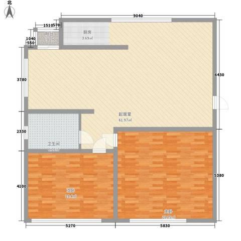 弘基书香园三期2室0厅1卫0厨162.00㎡户型图
