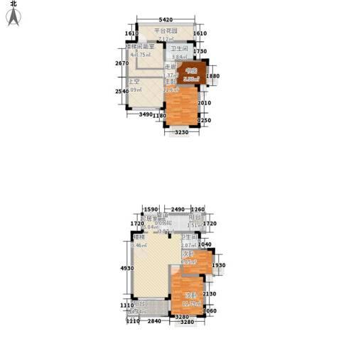 中兴渝景苑4室0厅2卫1厨123.00㎡户型图