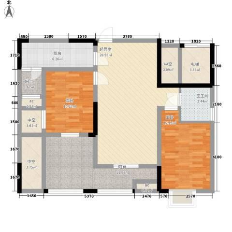 森柯香渝园2室0厅1卫1厨85.23㎡户型图