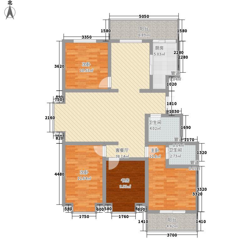 南温华苑154.63㎡南温华苑户型图7#M户型4室2厅2卫户型4室2厅2卫