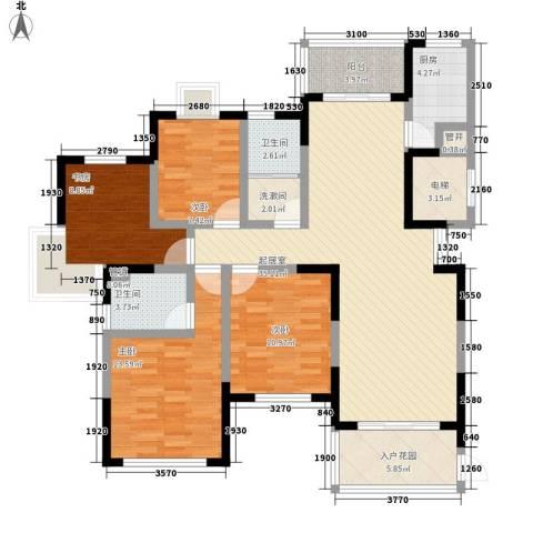 泰和天成4室0厅2卫1厨151.00㎡户型图