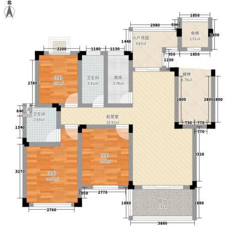 泰和天成3室0厅2卫1厨118.00㎡户型图