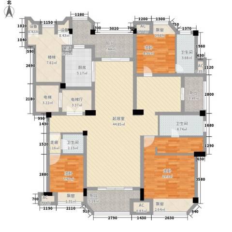 保利紫晶山3室0厅3卫1厨195.00㎡户型图