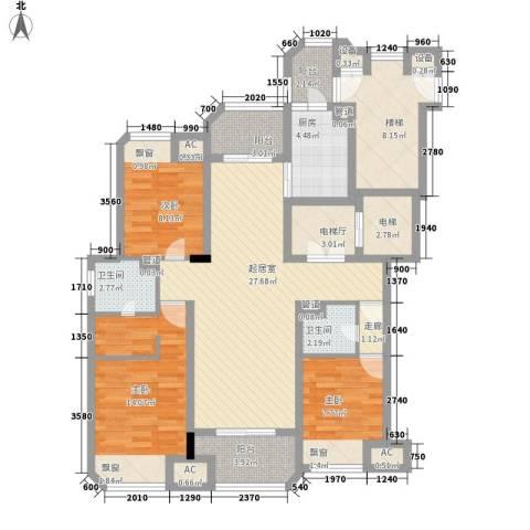 保利紫晶山3室0厅2卫1厨142.00㎡户型图