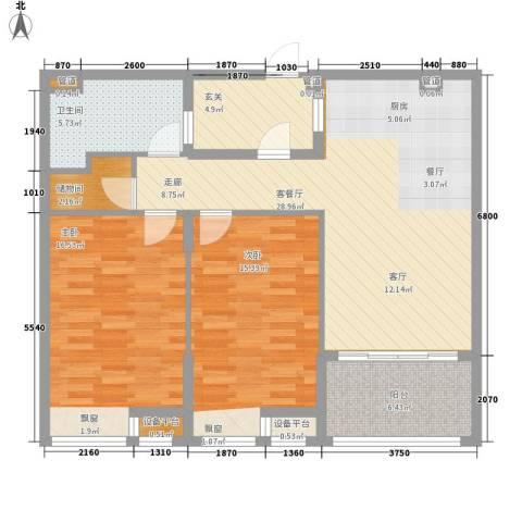 书院1号公寓2室1厅1卫0厨94.00㎡户型图