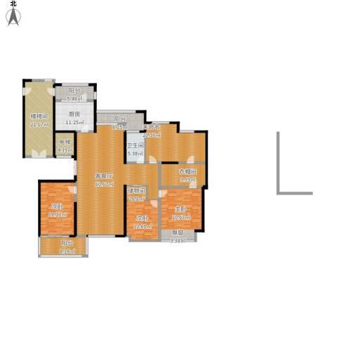 ART蓝海3室1厅1卫1厨292.00㎡户型图