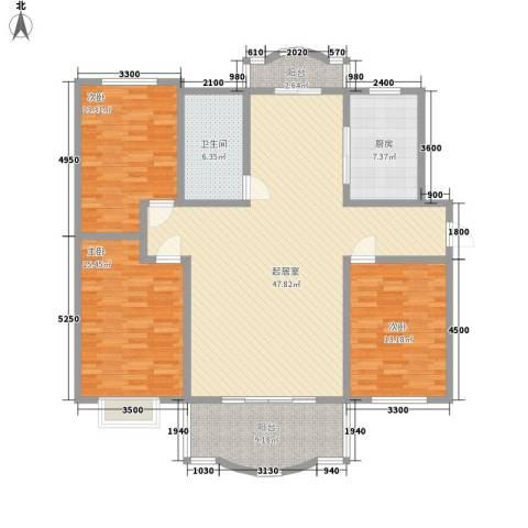 江景国际3室0厅1卫1厨162.00㎡户型图