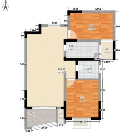 南湖家苑(二期)2室0厅1卫1厨95.00㎡户型图