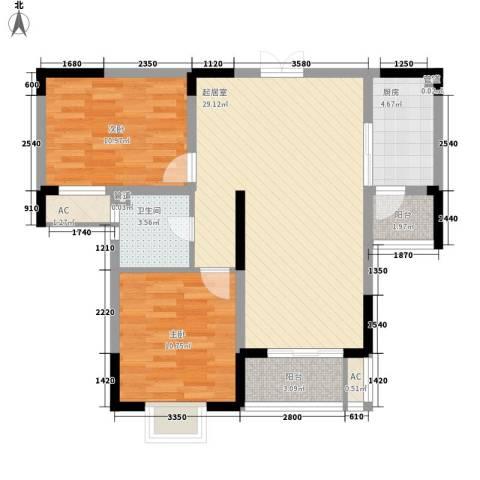 南湖家苑(二期)2室0厅1卫1厨96.00㎡户型图