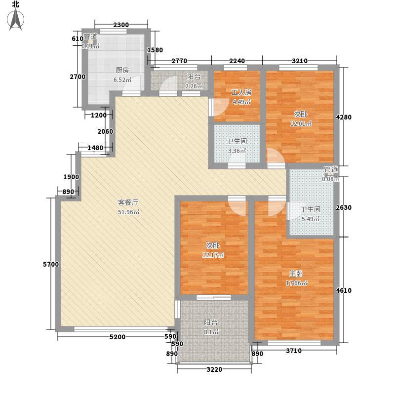 长影世纪村177.38㎡长影电梯洋房户型图4户型4室2厅2卫