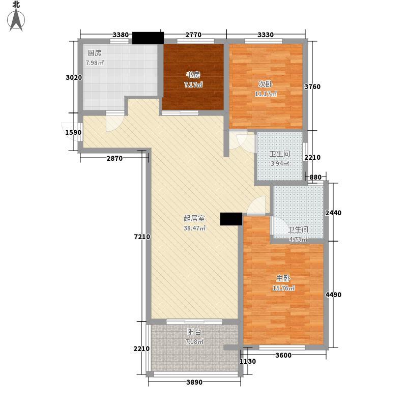 中环凯旋宫别墅7a户型3室2厅2卫1厨