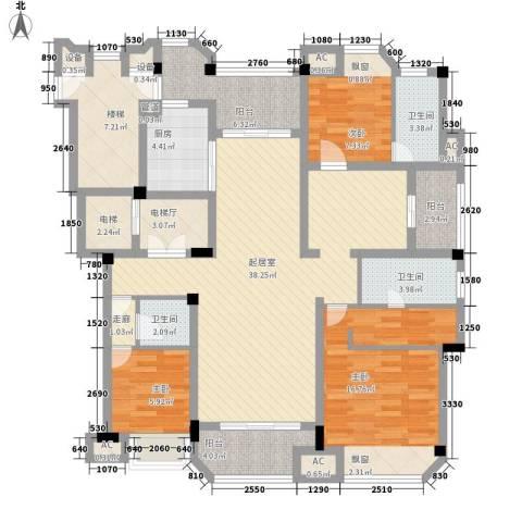 保利紫晶山3室0厅3卫1厨170.00㎡户型图