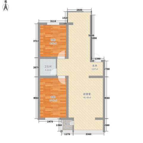 富云新都2室0厅1卫0厨97.00㎡户型图