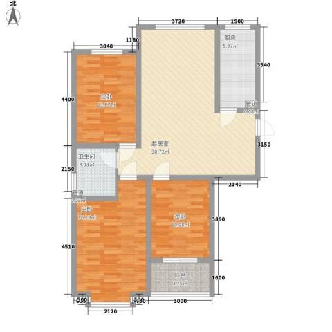 天鸿尚都3室0厅1卫1厨118.00㎡户型图