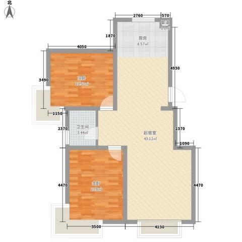富云新都2室0厅1卫0厨102.00㎡户型图