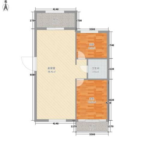 金海华府2室0厅1卫0厨100.00㎡户型图
