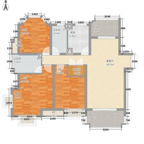 优山美地别墅3室1厅2卫1厨285.00㎡户型图