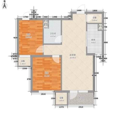 圣安综合楼2室0厅1卫1厨95.00㎡户型图