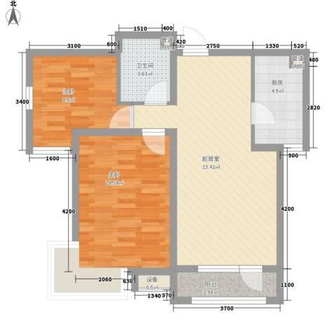 东北师范大学教师楼2室0厅1卫1厨85.00㎡户型图