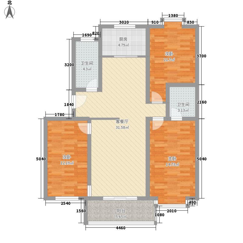 新浩城南区新浩城南区户型图3室2厅2卫1厨户型10室
