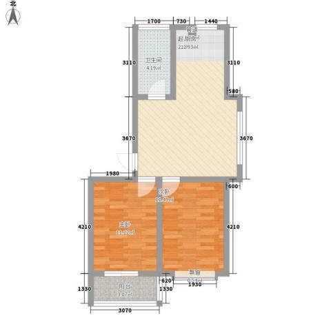 威达新城2室0厅1卫0厨75.00㎡户型图