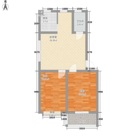 威达新城2室0厅1卫0厨83.00㎡户型图
