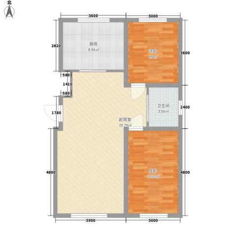 上台花园2室0厅1卫1厨94.00㎡户型图