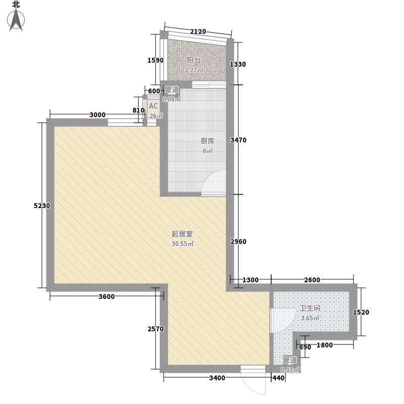 天星小区51.00㎡天星小区1室户型1室