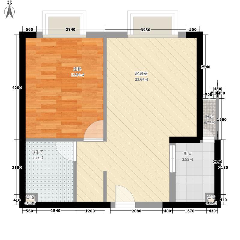 长富新城64.47㎡长富新城户型图户型图1室1厅1卫1厨户型1室1厅1卫1厨