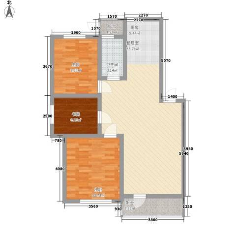 怡海花园3室0厅1卫0厨104.00㎡户型图