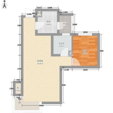 富立・秦皇半岛1室0厅1卫1厨116.00㎡户型图