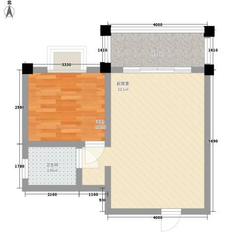太阳河温泉度假中心1室0厅1卫0厨56.00㎡户型图