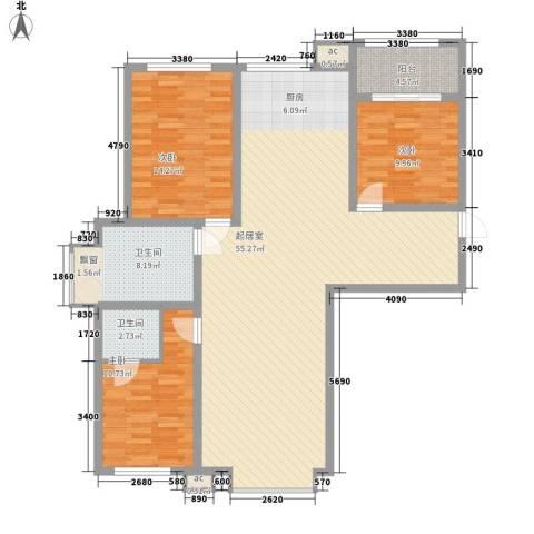 富恒国际3室0厅2卫0厨150.00㎡户型图