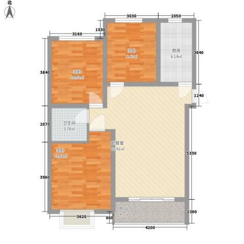 彼岸3室0厅1卫1厨100.00㎡户型图