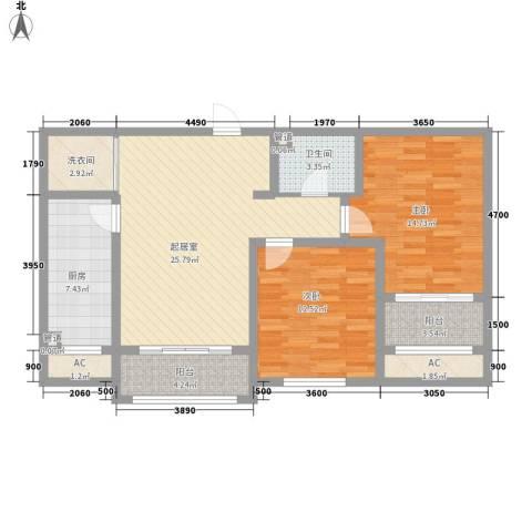 富立・秦皇半岛2室0厅1卫1厨100.00㎡户型图