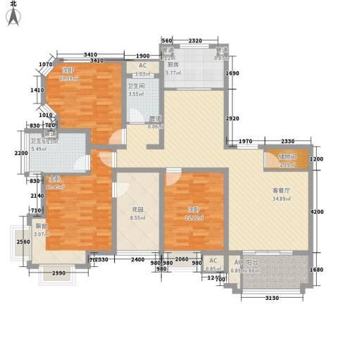 优山美地别墅3室1厅2卫1厨262.00㎡户型图