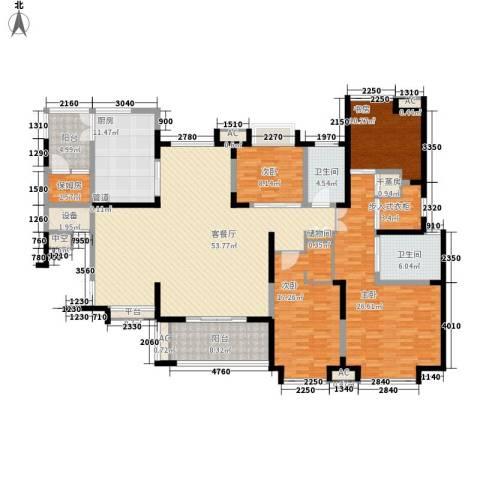 海门东恒盛国际公馆4室1厅2卫1厨190.00㎡户型图
