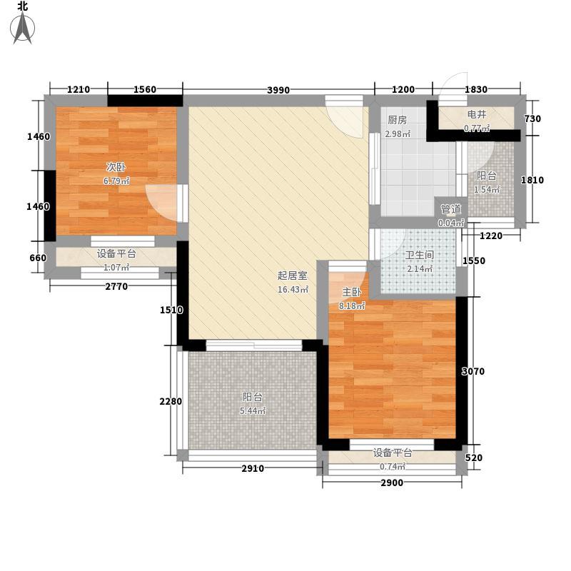 顺德碧桂园户型图喜居组团18座18层1803 2室2厅1卫1厨