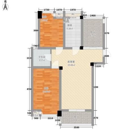 喜盈门2室0厅1卫1厨102.00㎡户型图