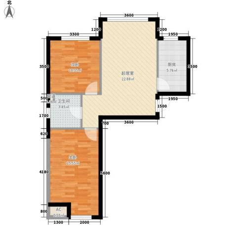 泉水锦泉源2室0厅1卫1厨78.00㎡户型图
