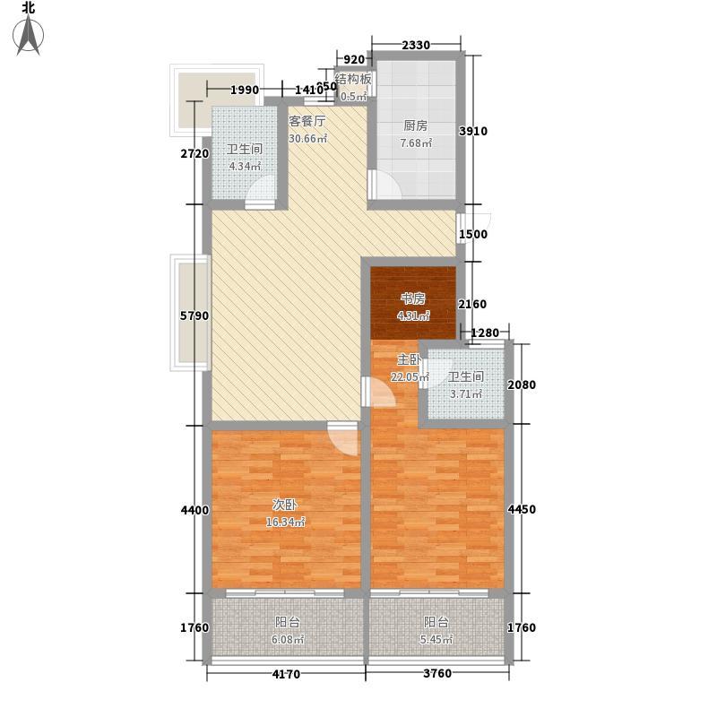 兴贤公寓138.40㎡A户型3室2厅2卫1厨
