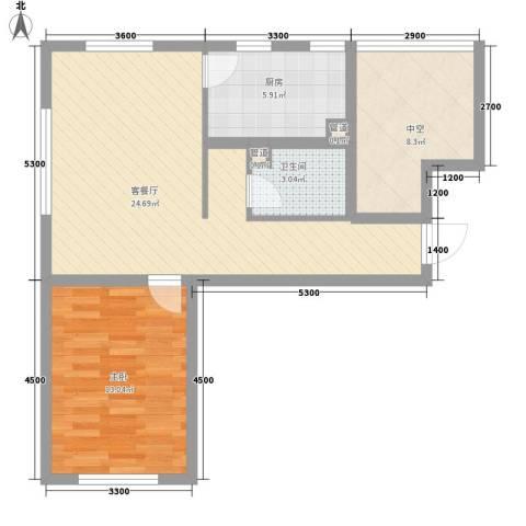 首创光和城1室1厅1卫1厨70.00㎡户型图