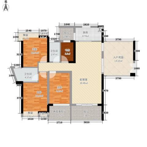 滨湖壹号4室0厅2卫1厨149.00㎡户型图