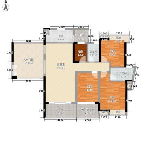 滨湖壹号4室0厅2卫1厨148.00㎡户型图